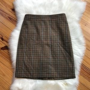 J. Crew Mercantile Brown Houndstooth Skirt 2